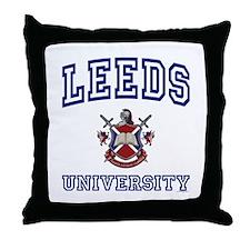 LEEDS University Throw Pillow