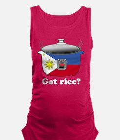 Funny Rice Maternity Tank Top