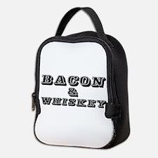 Bacon & Whiskey Neoprene Lunch Bag