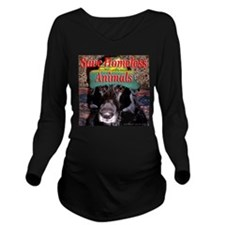 savehomelessanimals.png Long Sleeve Maternity T-Sh