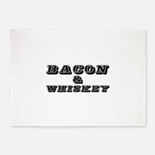 Bacon & Whiskey 5'x7'Area Rug