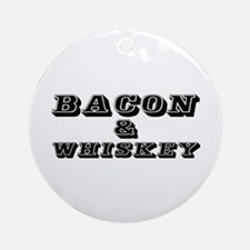 Bacon & Whiskey Ornament (Round)