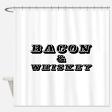 Bacon & Whiskey Shower Curtain