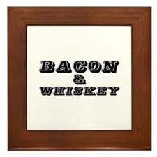 Bacon & Whiskey Framed Tile