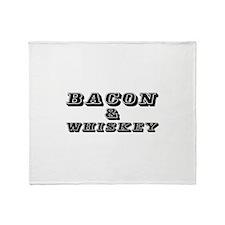 Bacon & Whiskey Throw Blanket