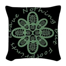 Leave Nothing Boot Grn Blk Woven Throw Pillow