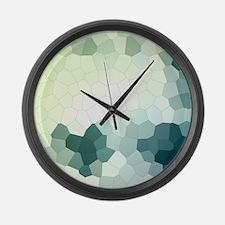 Crystalized Mosaic Pattern Large Wall Clock