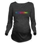 superstarblackt.png Long Sleeve Maternity T-Shirt
