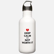 Keep Calm He's Not Wor Water Bottle