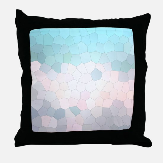 Crystalized Mosaic Pattern Throw Pillow