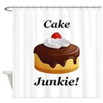 Cake Junkie Shower Curtain