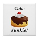 Cake Junkie Tile Coaster