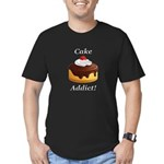 Cake Addict Men's Fitted T-Shirt (dark)