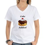 Cake Addict Women's V-Neck T-Shirt