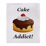 Cake Addict Throw Blanket