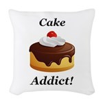 Cake Addict Woven Throw Pillow