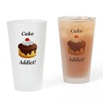Cake Addict Drinking Glass