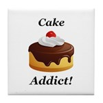 Cake Addict Tile Coaster
