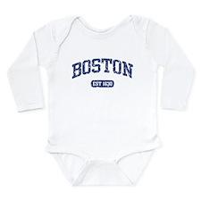 Funny Boston Long Sleeve Infant Bodysuit