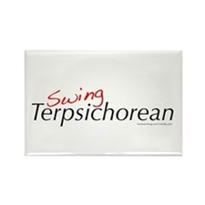 Swing Terpsichorean Rectangle Magnet