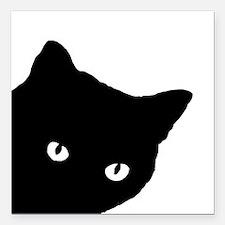 "Meow Square Car Magnet 3"" x 3"""