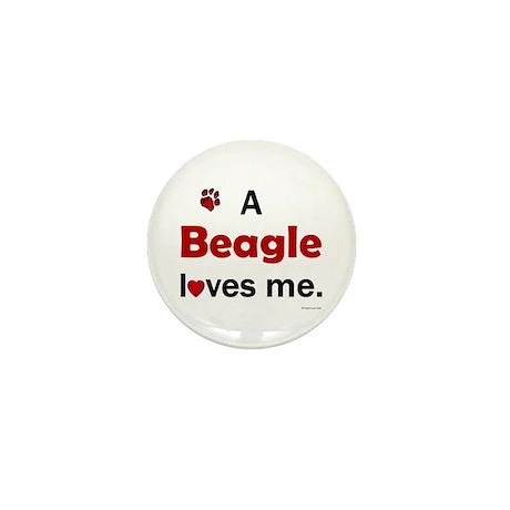 A Beagle Loves Me Mini Button