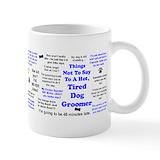 Dog grooming Coffee Mugs