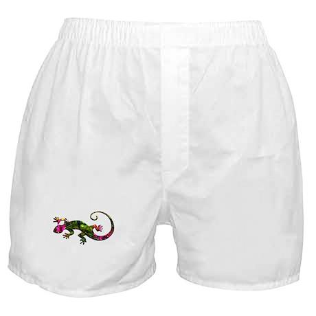 Green Purple Gecko Boxer Shorts