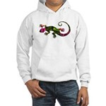 Green Purple Gecko Hooded Sweatshirt