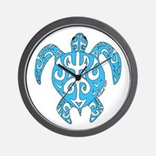 Tribal honu Wall Clock