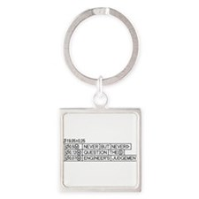 Funny Engineer Square Keychain