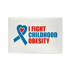 Funny Childhood obesity Rectangle Magnet