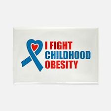 Unique Childhood obesity Rectangle Magnet