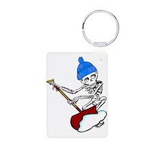 Aluminum Shoveling Skeleton Keychain Keychains