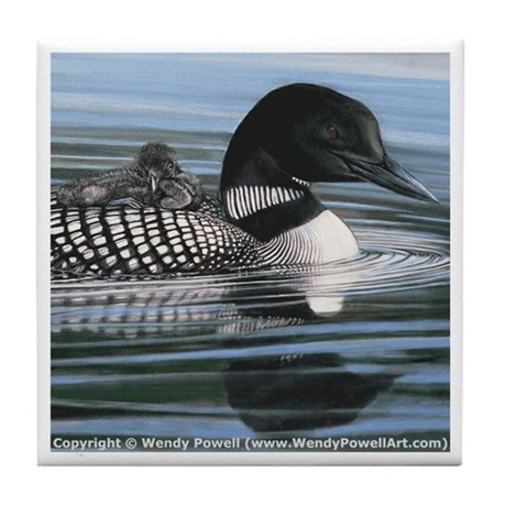 Common Loon Tile Coaster
