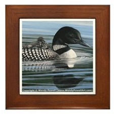 Common Loon Framed Tile