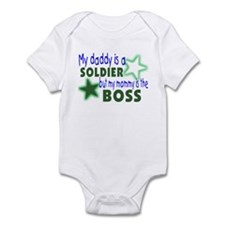 My daddy is a solder-Mommy is Infant Bodysuit