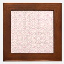 Carnation & White Lace 2 Framed Tile