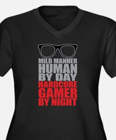 Human to Hardcore Gamer Plus Size T-Shirt