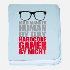Human to Hardcore Gamer baby blanket
