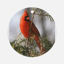 Winter Cardinal Ornament (Round)