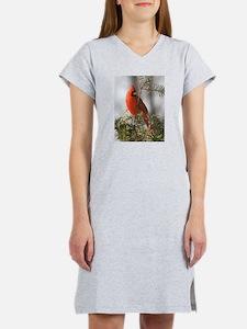 Winter Cardinal Women's Nightshirt