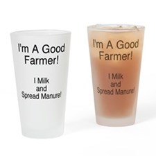 A Good Farmer Drinking Glass