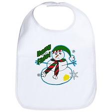 Dang Fido Snowman Bib
