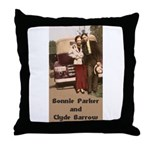 Bonnie and Clyde Throw Pillow