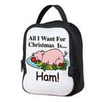 Christmas Ham Neoprene Lunch Bag
