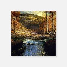 """Onderdonk - Forest Stream Square Sticker 3"""" x 3"""""""