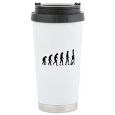 Evolution no text Travel Coffee Mug