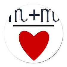 Scorpio + Scorpio = Love Round Car Magnet