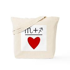 Scorpio + Sagittarius = Love Tote Bag